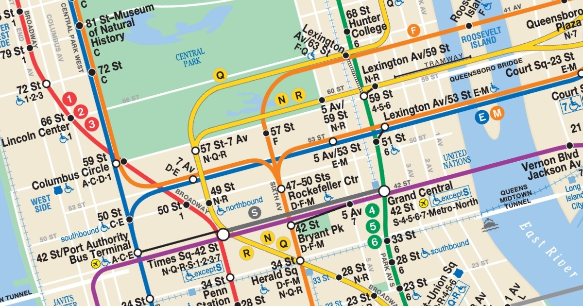 Map Of Subway In New York.Mta Maps